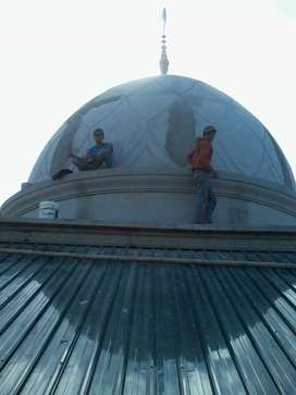 Hasil jadi dijamin Rapi Proyek Pembuatan dan Pemasangan Kubah Masjid