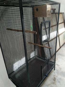Birds cage 5ft tall 3:2 ft vidth new cage with box cage good quality
