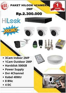 Hilook Cctv Paket 4Camera 2Megapixel