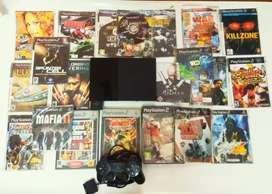 My Sony PS2 Good Condition with 25 Game and One Control original