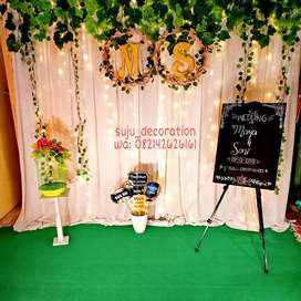 Sewa backdrop(dekorasi )simple, rustic ,costum smua bisa