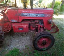 Mahindra Tractor with Trailer, Cage Wheel, Ninetyne Cultivator