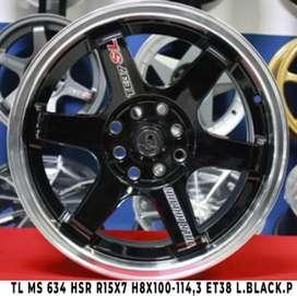 TL Ms 634 Hsr R15x7 H8x100-114,3 et 38 L.Black.P