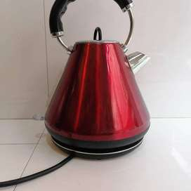 Dunelm  Infinity Traditional Kettle Stainless Steel, 1.8, Red