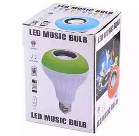 Smart led light bulb with bluetooth speaker and rgb lights with remort