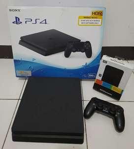 PS4 SLIM 500GB Bonus HDD 500GB Full 20 game JUAL Cpt sekarang