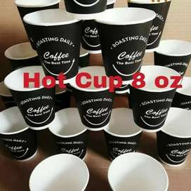 CETAK+SABLON 1warna HOT PAPER CUP 8oz
