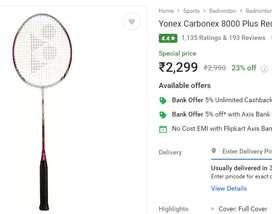 Yonex badminton Racquets New.