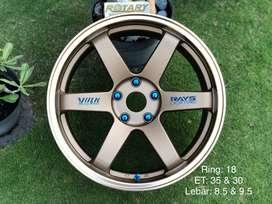 velg volk rays te37 ring18 BARU innova reborn mazda cx5 rx8 crv vitara