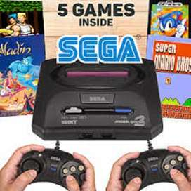 Sega Video Game Console Sega Mega Drive 2 16Bit Black