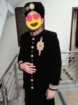 Welwet Sherwani with Kulla.