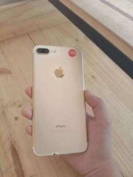 iPhone 7+ 32GB Gold Second Fullset Ex Inter Original