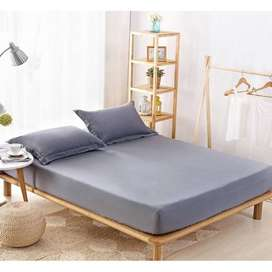 Plain Colors Fitted Bedsheet King Size
