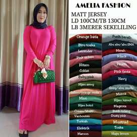 gamis polos jersy all size fot to xl