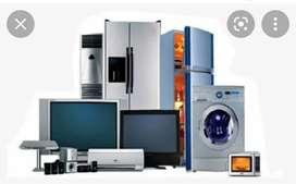 Led tv,Air Conditioner, Washing Machine, Refrigerator,Geyser