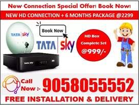 Tata sky HD Connection Best Price! Book - Tatasky, Airtel, DishTV HD !