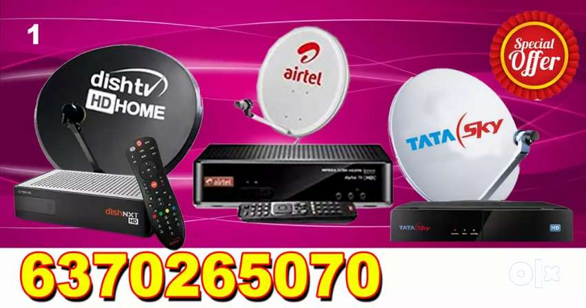 AIRTEL ! VIDEOCON D2H ! DTH CONNECTION ! TATA SKY,  DISH TV 0