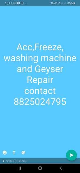 Ac,Freeze and washing machine Repair
