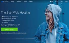 Website Hosting only 3000  1Year with BlueHost Top Company