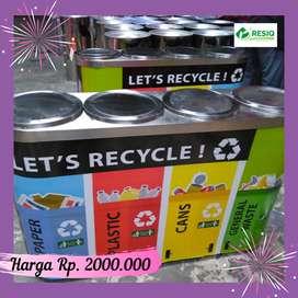 Tong sampah Stainless Steel berkualitas | Bak sampah indoor