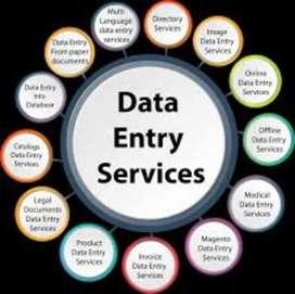 Typing work data Entry work