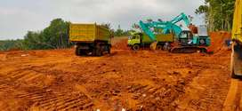 Tanah merah puin land clearing hotmix aspal cut and fill turap