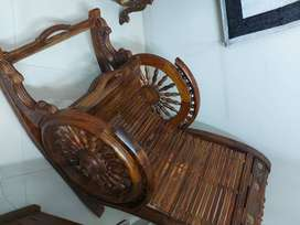 Rocking chair mint condition pure sheesham wood