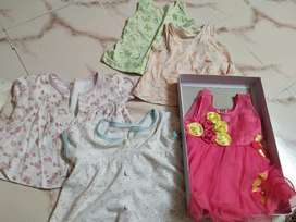 4 used and pink never used frock.all for 300