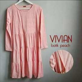 Baju menyusui pink peach