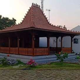 Jual Produksi Pendopo Rumah Kayu Jati Joglo Untuk kafe resto dan rumah