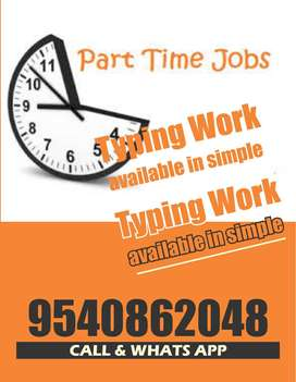 very easy typing job home based free time job