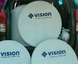 Pasang Indovision Mnc Vision banyak chanel dan menghibur