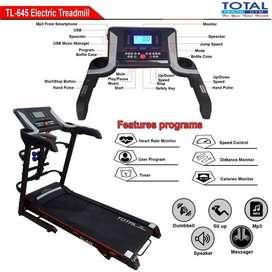 Alat Fitness Treadmill Elektrik TL-645 motor 2hp