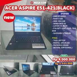 COD BISA, PROMO LAPTOP ACER ASPIRE E51-421 RAM 4 GB NEW MURAH BERGARAN