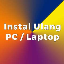 Jasa Instal ulang Laptop & PC