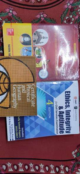 Upsc books (art and culture, g c long and ethics)