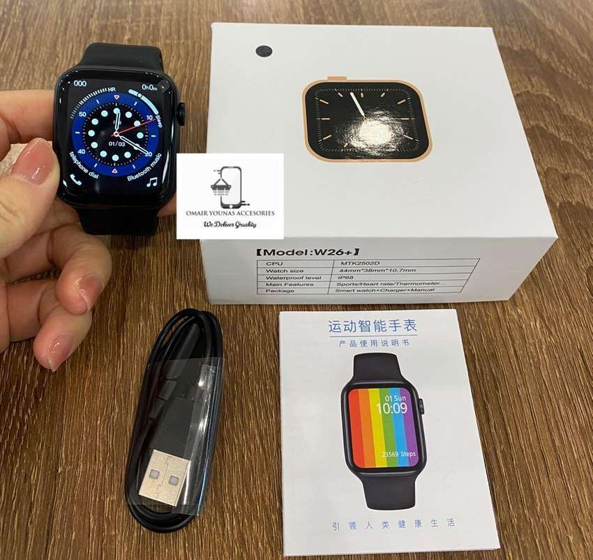 W26 Plus Smartwatch (Crown Rotate) 0