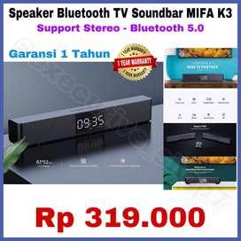 Speaker Portable Bluetooth Soundbar TV MIFA K3 - Support Stereo