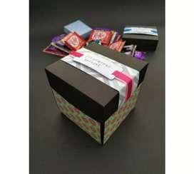 Chocolate explosion box