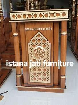 Mimbar masjid jati minimalis furniture mimbar
