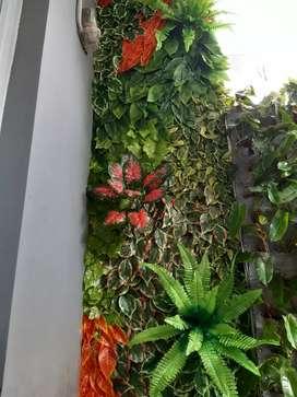 Vertical sintetis, tanaman sintetis, rumput sintetis Jepang