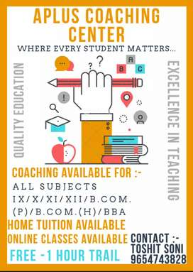 Home and Online Tutor
