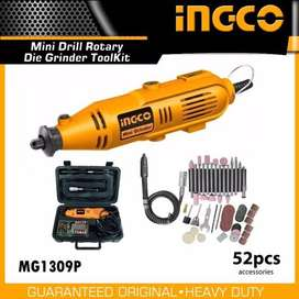 INGCO Mini Drill Rotary Die Grinder with 52pcs Accessories MG1309