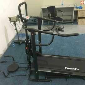 Hemat Biaya Treadmill Manual Full Hitam TL-003
