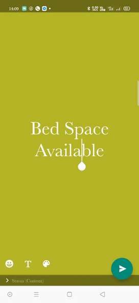 Bed space available for ladys.Near International Air port Trivandrum