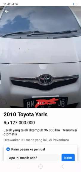 Dijual mobil Yaris S 2010 akhir