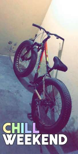 New bicycle with fat tyre