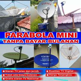 Pasang/servis antena parabola mini &jaring langsung teknisi Wil manyar
