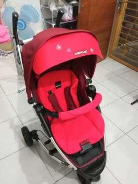 Stroller merah bagus murmer
