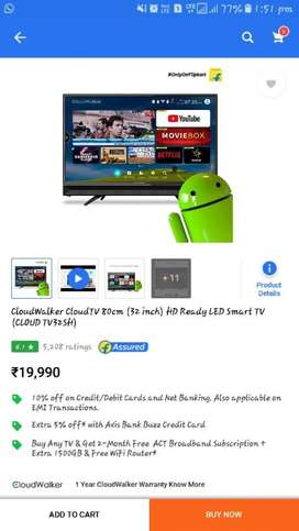 Cloud Walker android led tv fix rate hai